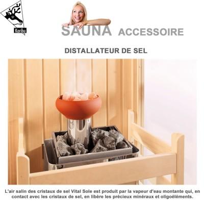 Distillateur de cristaux de sel pour sauna