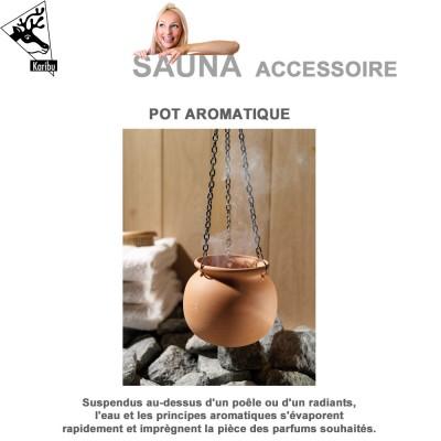 Pot aromatique pour sauna