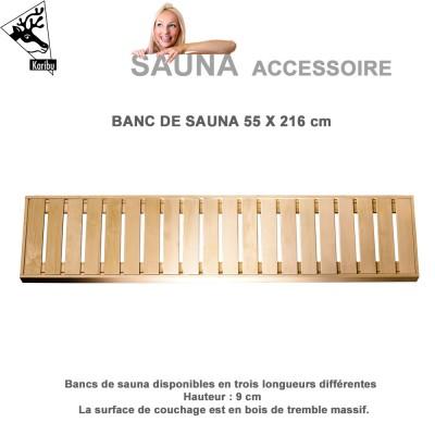 Banquette pour sauna