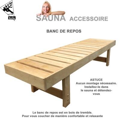 Banc pour sauna