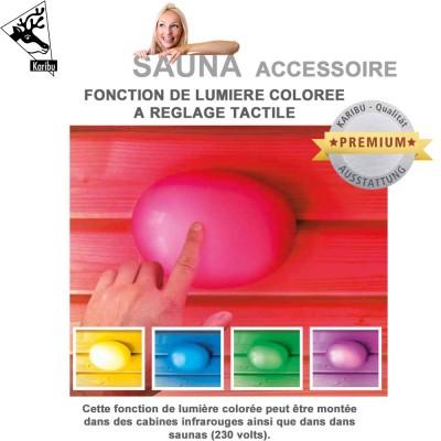 Lampe tactile colorée pour sauna