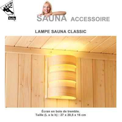 Lampe classic pour sauna