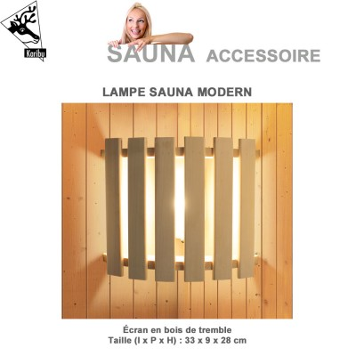 Lampe de sauna modern