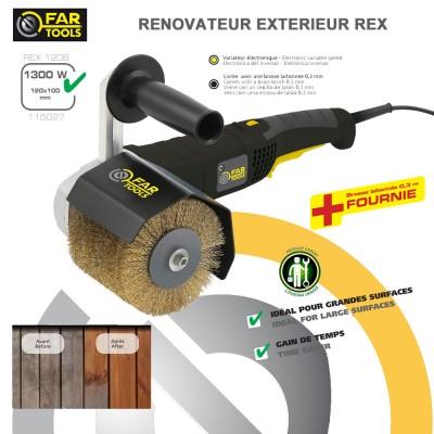 ponceuse r novateur ext rieur rex 120. Black Bedroom Furniture Sets. Home Design Ideas