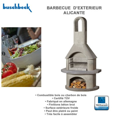 Barbecue fixe d 39 ext rieur en pierre pas cher clic discount for Barbecue exterieur en pierre