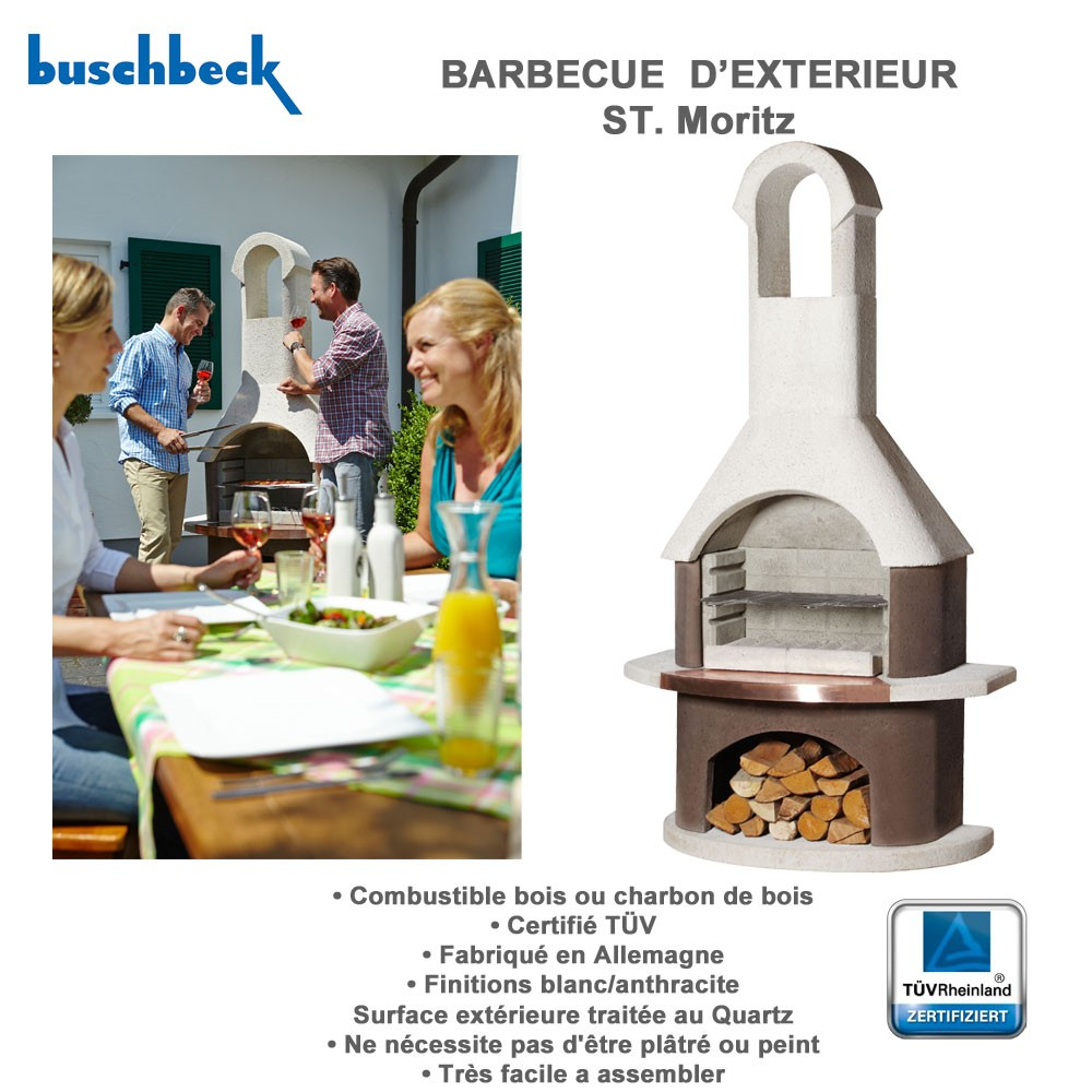 Barbecue en pierre st moritz 100386 buschbeck for Four barbecue exterieur