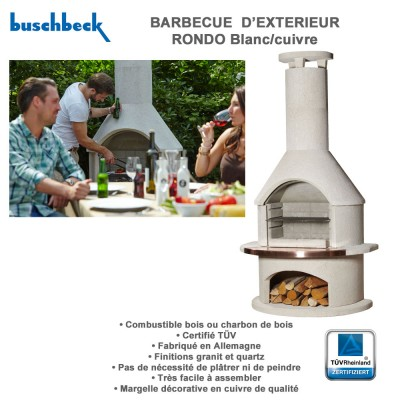 Barbecue en pierre rondo 100010 buschbeck for Barbecue exterieur en pierre