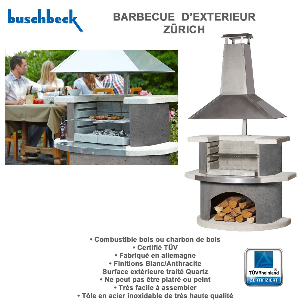 Barbecue en pierre z rich 102557 buschbeck for Barbecue exterieur