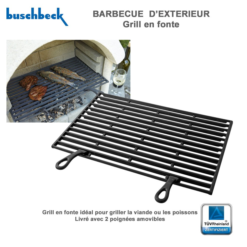 grille en fonte pour barbecue en pierre 901228 buschbeck. Black Bedroom Furniture Sets. Home Design Ideas