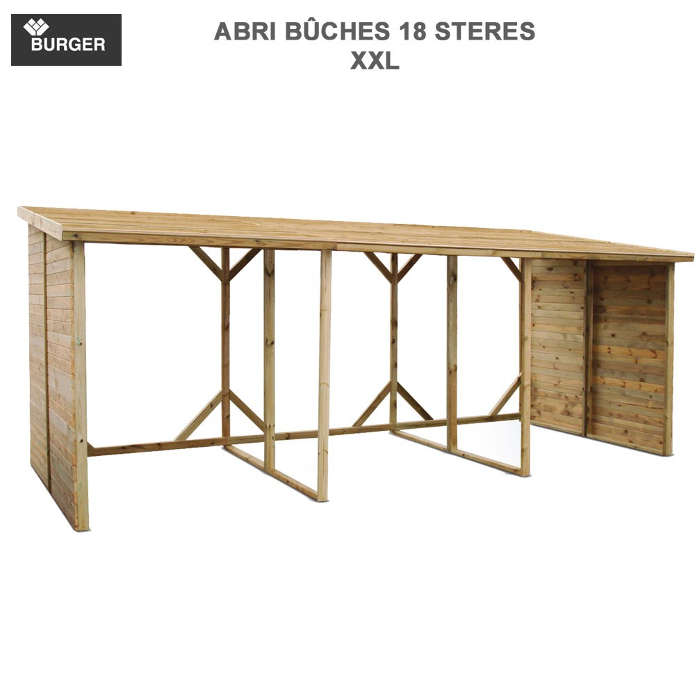 abri b ches xxl en bois 18 st res m3 0100201 burger 8. Black Bedroom Furniture Sets. Home Design Ideas