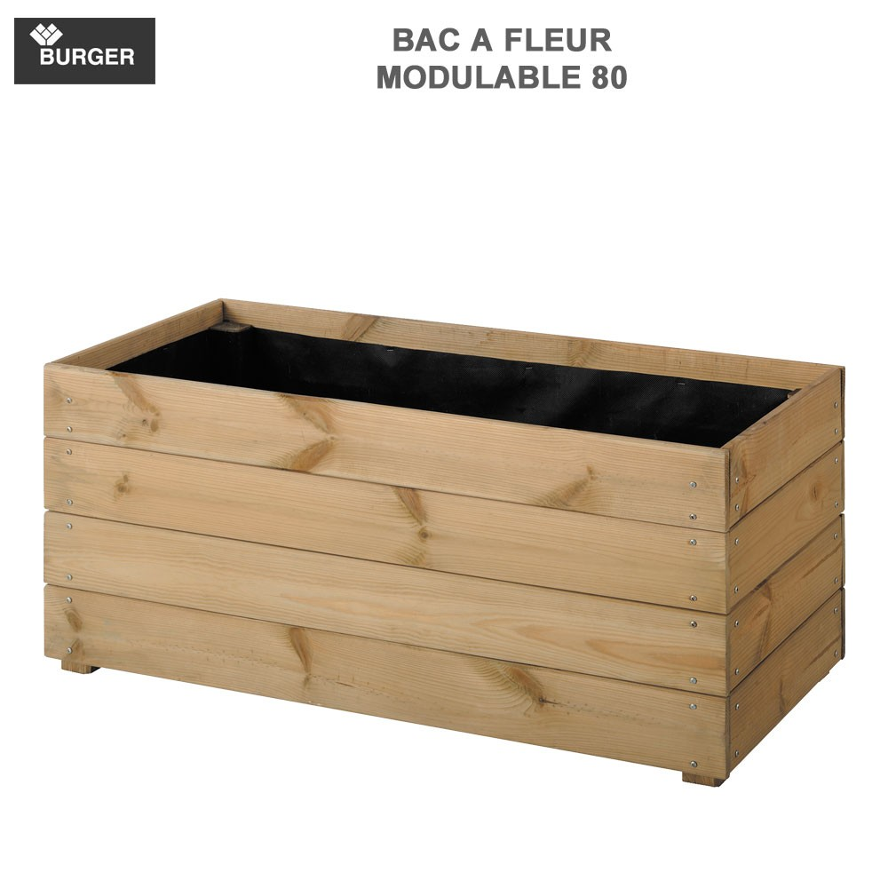bac fleur bois essencia 80 rect l80 x p40 x h39 5 cm. Black Bedroom Furniture Sets. Home Design Ideas