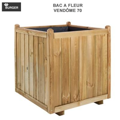 Bac à fleur en bois carré Vendôme 70 x70x75cm