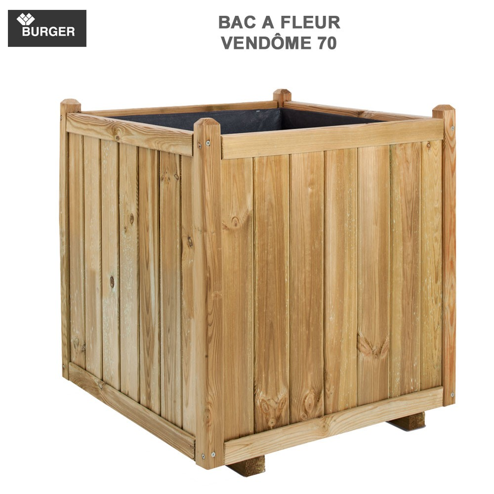 bac fleur en bois carr vend me 70 x70x75cm 0281412 burger 8. Black Bedroom Furniture Sets. Home Design Ideas