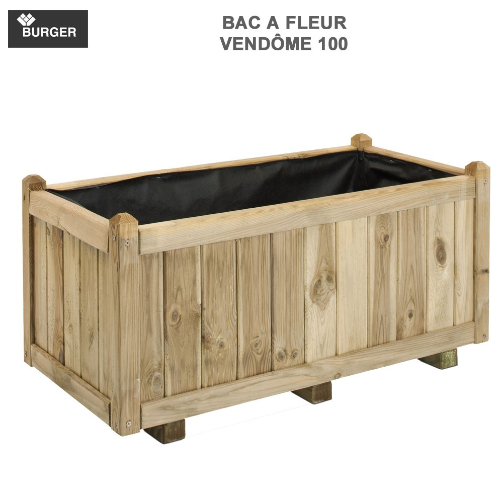 bac fleur en bois rect vend me 92 x 46 x 43 cm 0281221. Black Bedroom Furniture Sets. Home Design Ideas