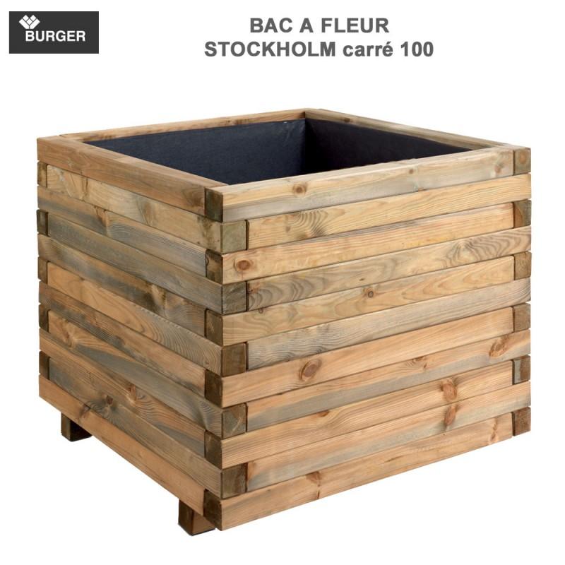 bac fleur en bois carr stockholm 100 x 100 x 81 cm 0281399 burger 8. Black Bedroom Furniture Sets. Home Design Ideas