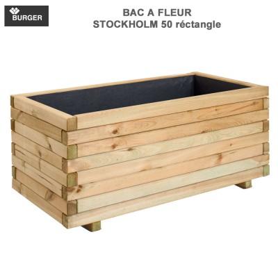 Bac à fleur en bois Stockholm Rect. 100x50x43 CM