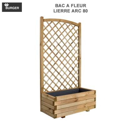 Bac à fleur en bois Lierre Arc 80 x 40 x 152 cm