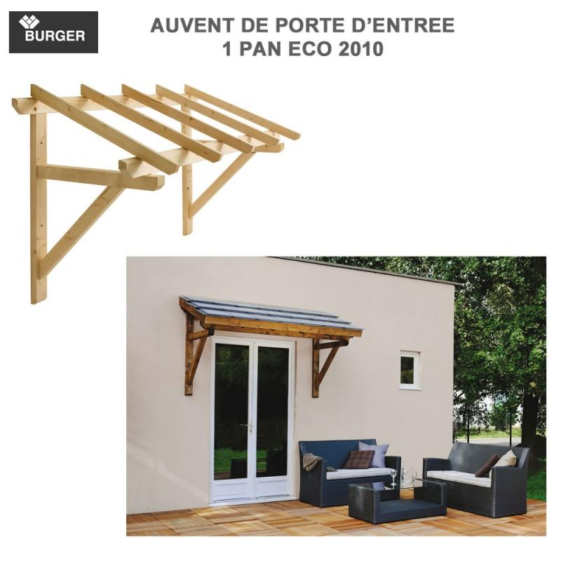 auvent porte d 39 entr e bois 1 pan 205 x 100 cm. Black Bedroom Furniture Sets. Home Design Ideas
