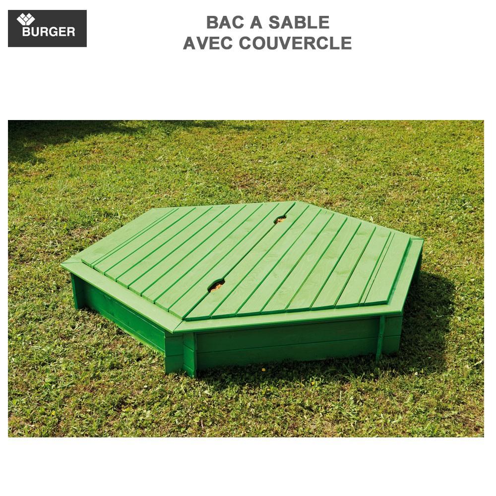 bac sable bois hexagonal avec couvercle diam 180 cm 6 burger 8. Black Bedroom Furniture Sets. Home Design Ideas