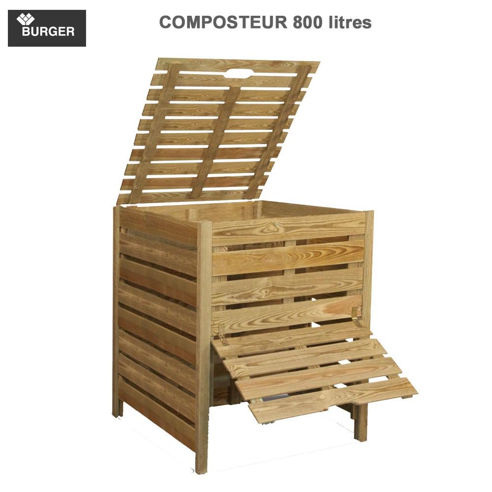 composteur bois pratik 800 litres 0100089 burger 8. Black Bedroom Furniture Sets. Home Design Ideas