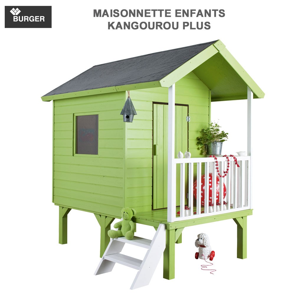 cabane en bois enfants kangourou plus. Black Bedroom Furniture Sets. Home Design Ideas