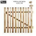 Portillon pour clôture bois de jardin Oblik L100 x H90 cm