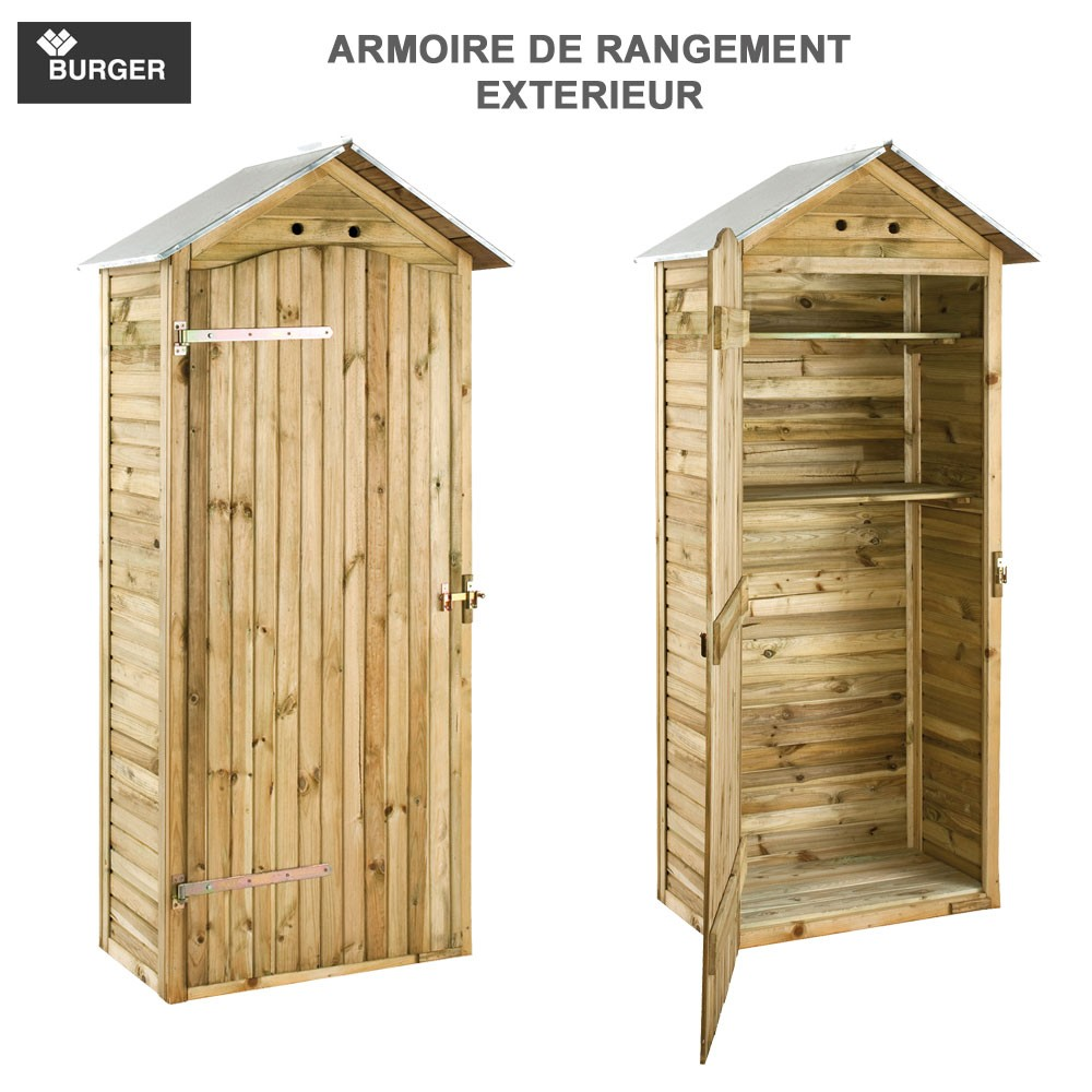 armoire de rangement de jardin 90 x 58 x 204 cm 0100539. Black Bedroom Furniture Sets. Home Design Ideas