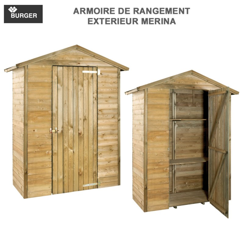 armoire de rangement de jardin merina burger jardipolys. Black Bedroom Furniture Sets. Home Design Ideas