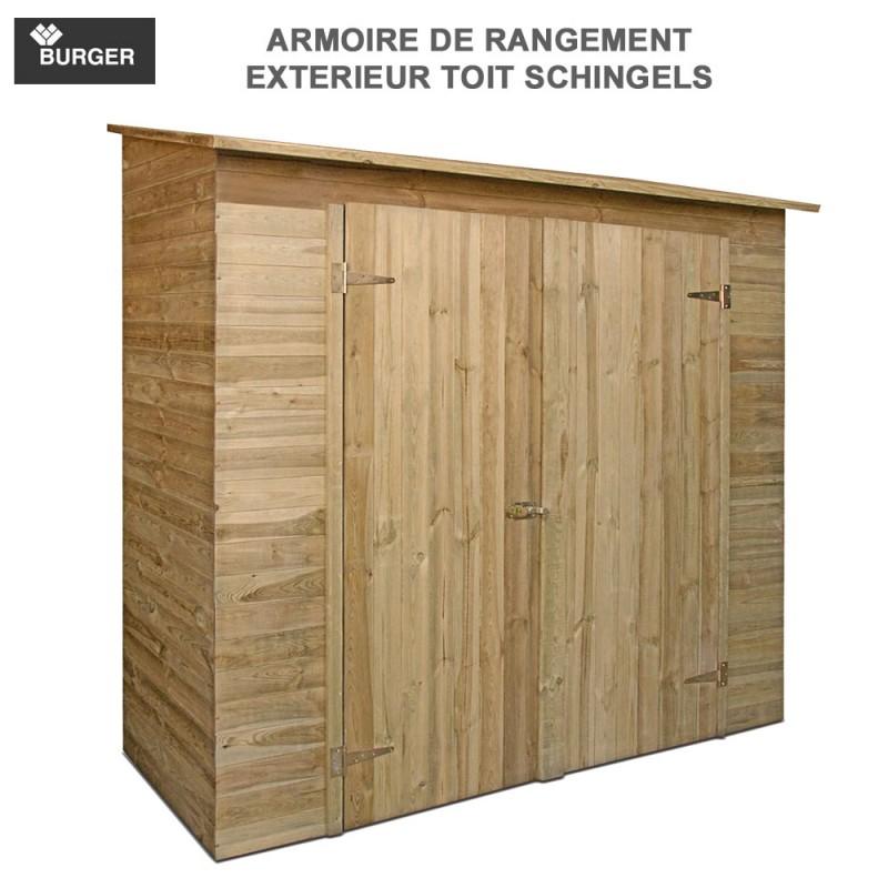 Armoire de rangement en bois savona - Meuble de jardin en bois ...