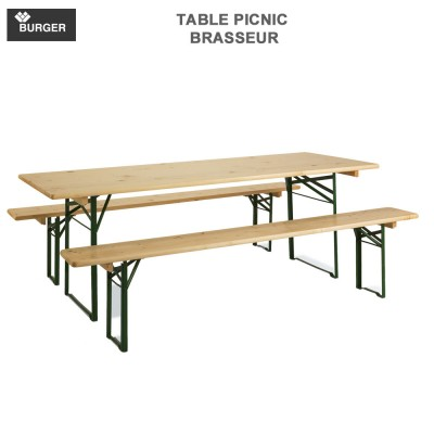 Table picnic pliable brasseur - Set banquet 80 Burger