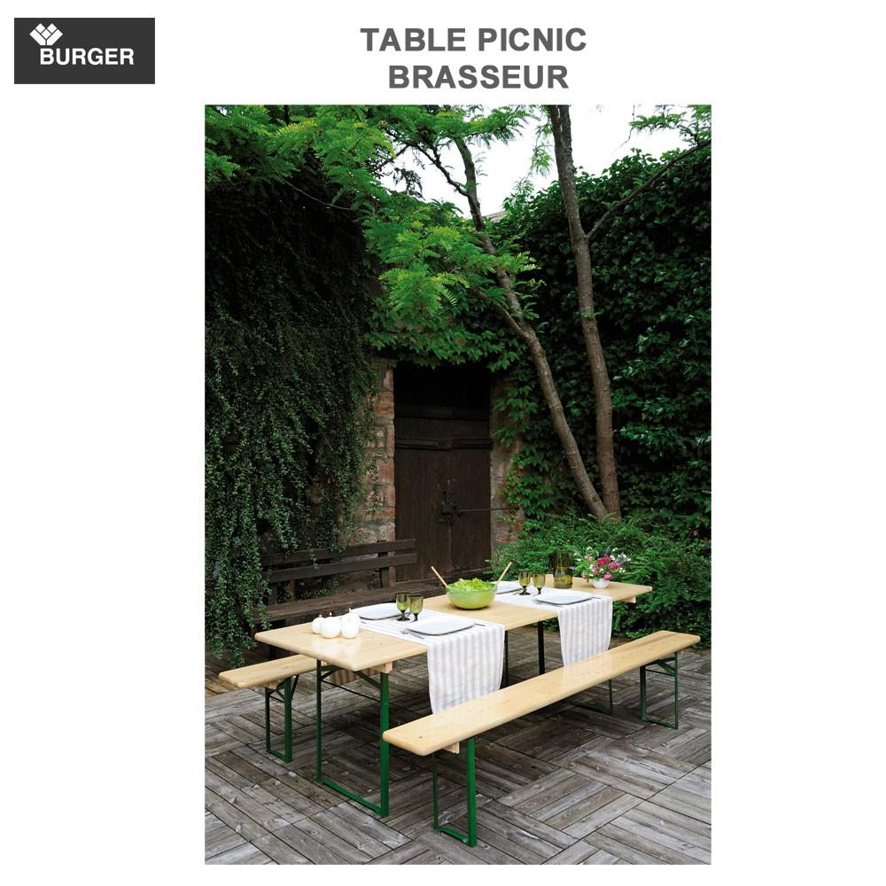 table picnic brasseur pliable set banquet 800100546 burger 8. Black Bedroom Furniture Sets. Home Design Ideas