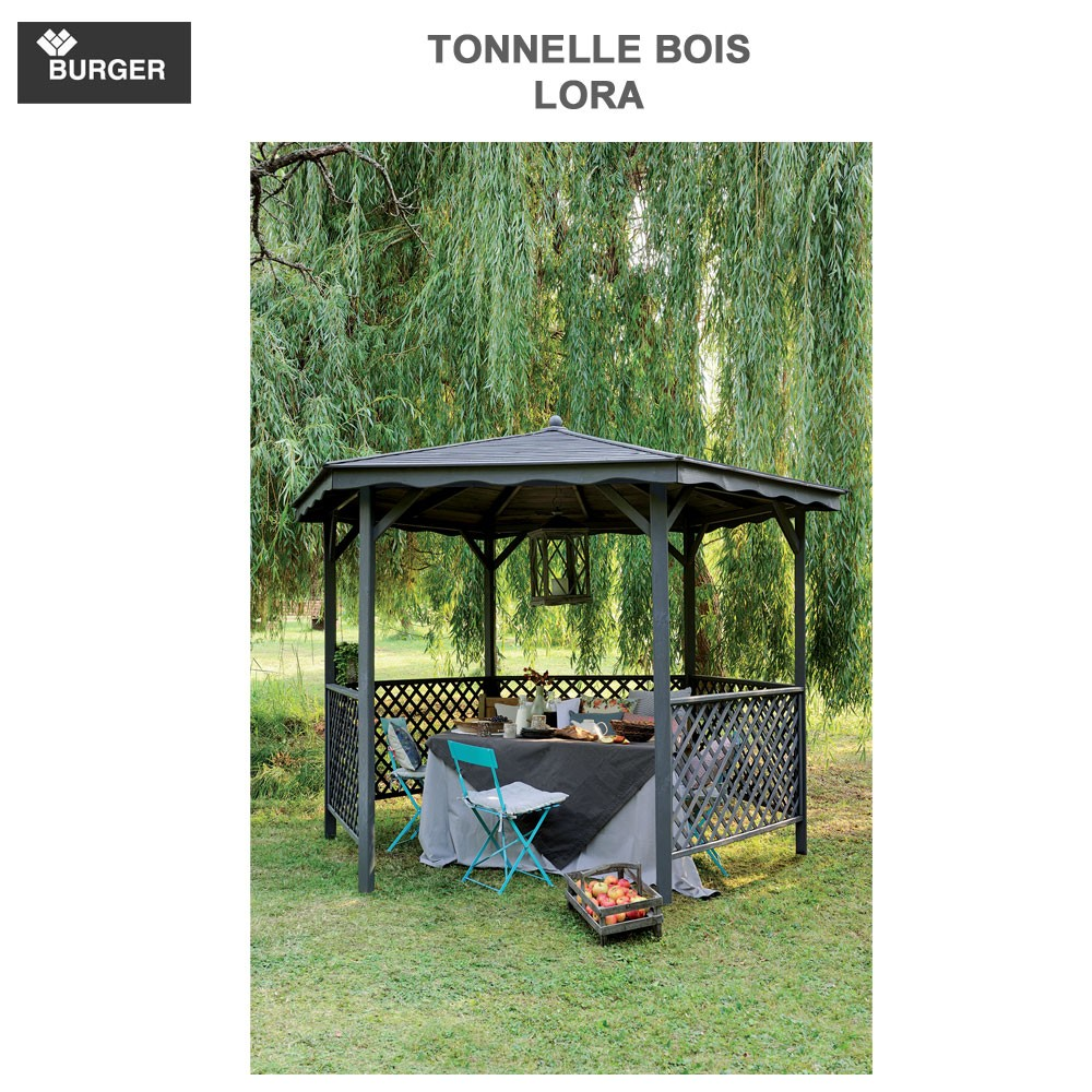 tonnelle de jardin bois lora 0700012 burger. Black Bedroom Furniture Sets. Home Design Ideas