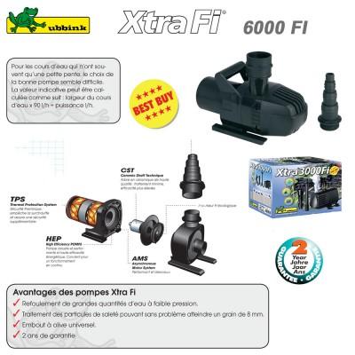 Pompe pour bassin ext rieur xtra 6000 fi 1351956 ubbink 8 for Pompe et filtre pour bassin exterieur