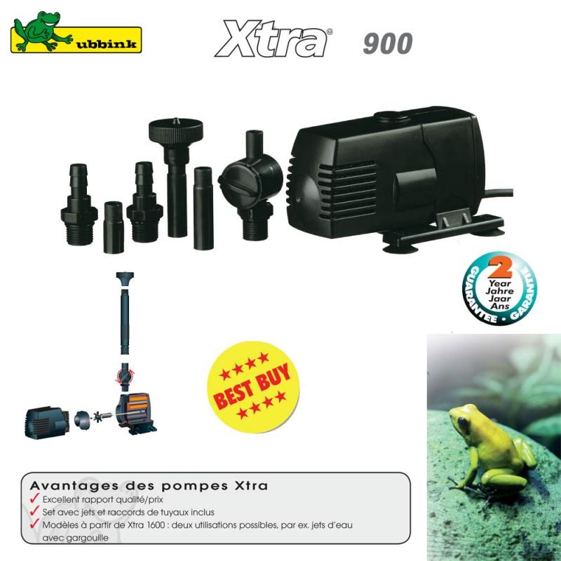 Pompe pour bassin aquatique xtra 900 1351950 ubbink 8 for Eclairage pour bassin aquatique