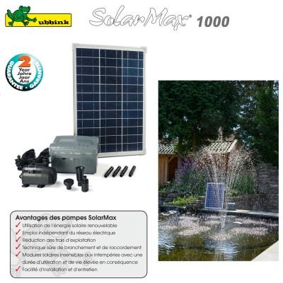 Pompe pour bassin aquatique solaire SolarMax 1000