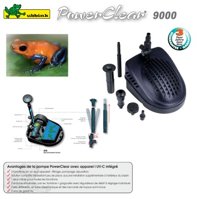 Pompe pour Bassin aquatique PowerClear 9000