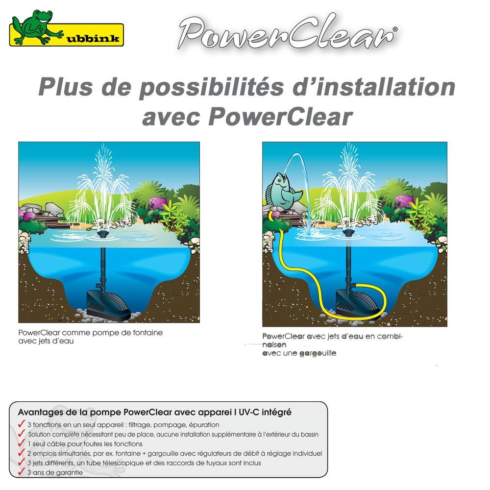 Pompe pour bassin aquatique powerclear 9000 1351321 ubbink 8 for Pompe pour bassin aquatique