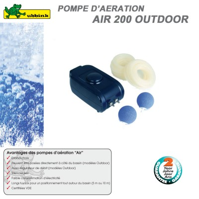 Pompe d'aération pour bassin AIR Outdoor 200