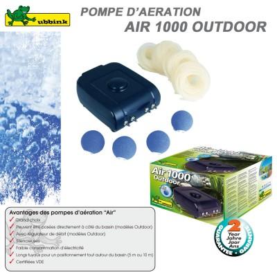 Pompe d'aération pour bassin AIR Outdoor 1000