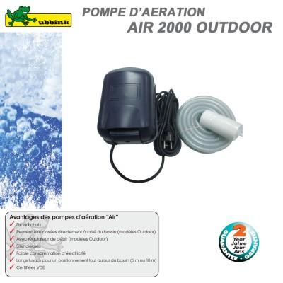Tuyau pour gargouille de bassin ext rieur 1353091 ubbink 8 for Pompe a air bassin exterieur