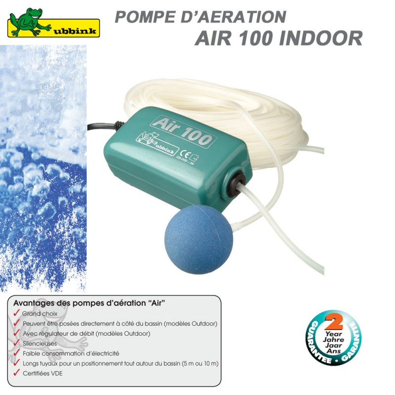 Pompe d 39 a ration pour bassin air indoor 100 1355081 ubbink 8 for Pompe a air pour bassin exterieur