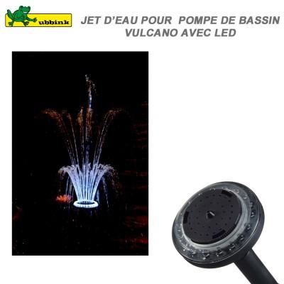"""Jet d'eau pour pompe de bassin Vulcano 1"""" Led"""