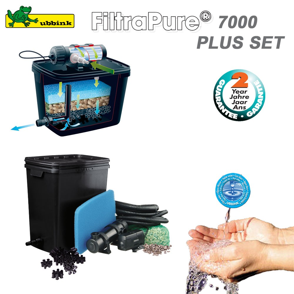 Filtre pour bassin ext rieur filtrapure 7000 plus set for Pompe de filtration pour bassin exterieur
