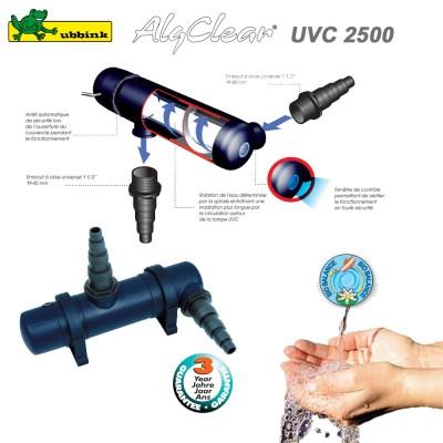 Filtre anti algue pour bassin ext rieur algclear uvc 2500 - Lampe uv pour bassin ...