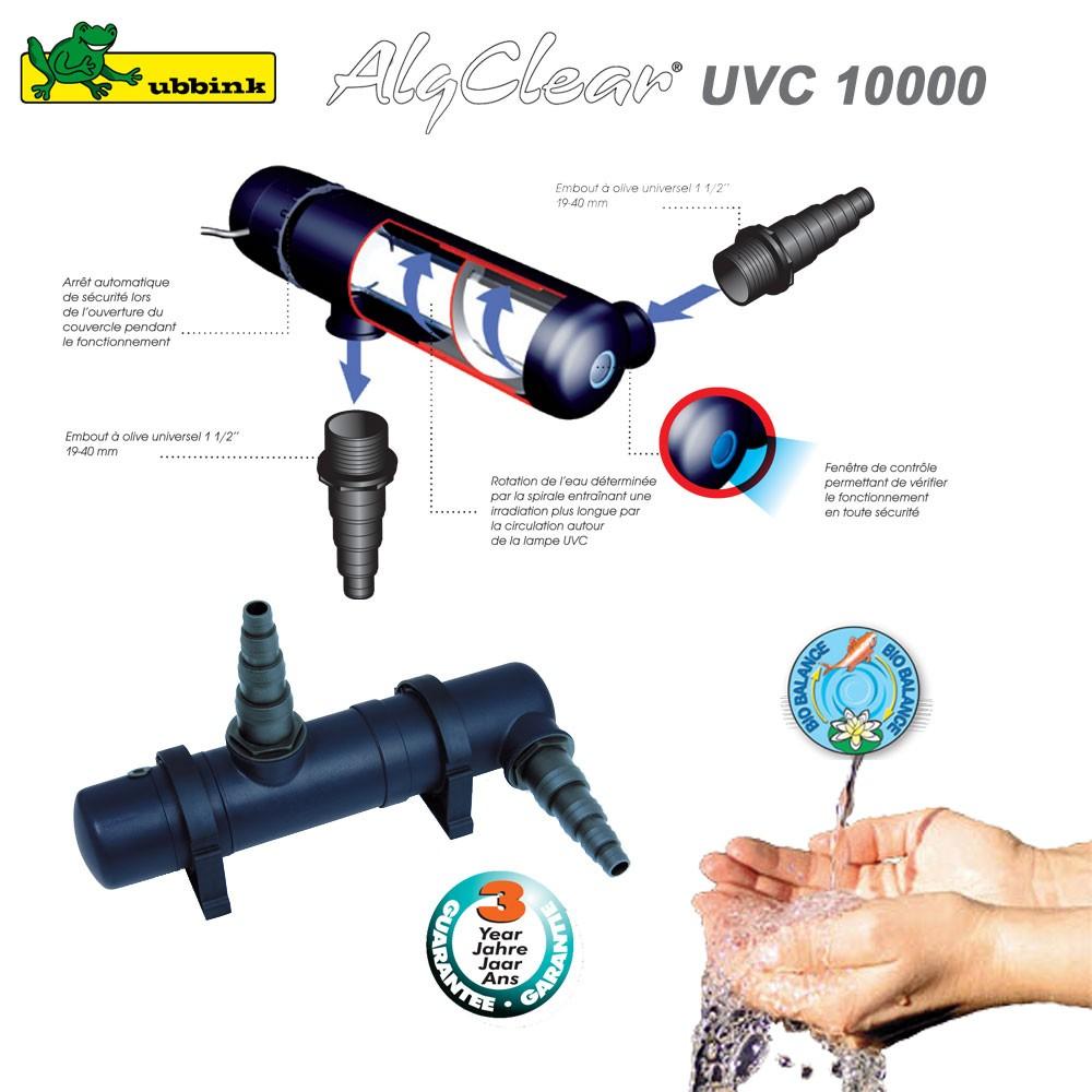 filtre anti algue pour bassin ext rieur algclear uvc 10000 1355132. Black Bedroom Furniture Sets. Home Design Ideas