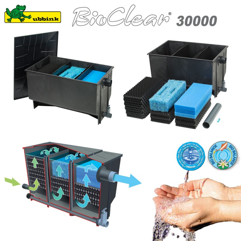 filtre pour bassin ext rieur bioclear 30000 1355057 ubbink 8. Black Bedroom Furniture Sets. Home Design Ideas