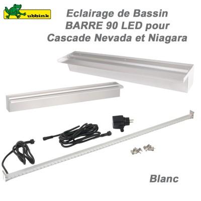 Barre 90 leds pour casacdes niagara et nevada 1312117 ubbink 8 for Eclairage pour bassin aquatique