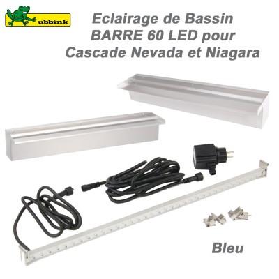 Barre 60 LEDS bleu pour cascacdes Niagara et Nevada