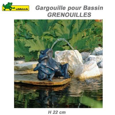 Gargouille bassin extérieur Grenouilles
