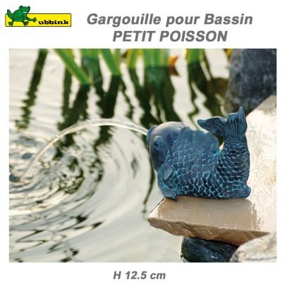 Gargouille de bassin extérieur Petit Poisson - 12 cm